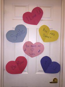 hearts on a door