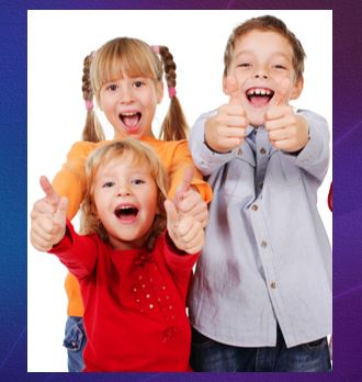 You've got this! 3 kids with Thumbs Up