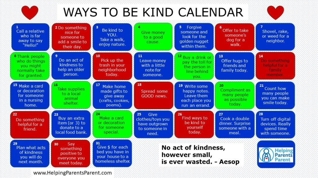 Be Kind Calendar