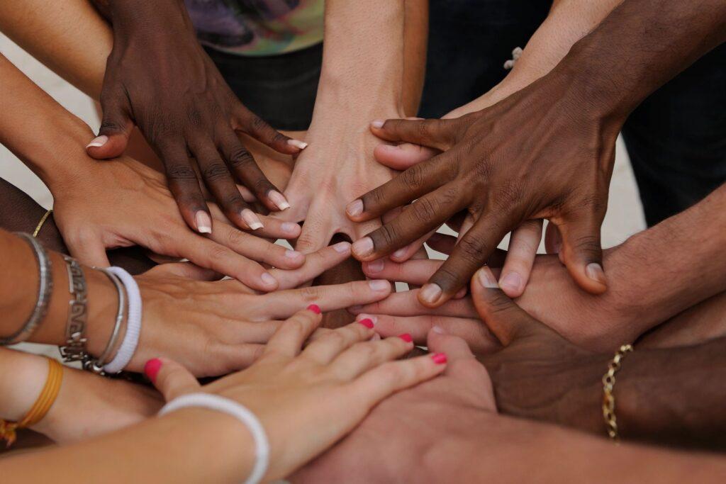 Team work hands